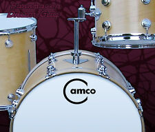 Camco, Vintage, Repro Logo (#2) - Adhesive Vinyl Decal, for Bass Drum Reso Head