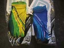 LOT 2 PAIRS DEFT FAMILY GLOVES  WHITE & BLUE, YELLOW & GREEN LARGE adult ATV
