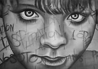 Graffiti Street Art Boy Face Large poster print painting Australia by pepe