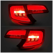 LED Red | Clear Tail Lights For Toyota Camry 2012-2014 Rear Lamps Assembly