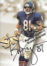 1998 Skybox Premium Autographics Bobby Engram On Card Autograph
