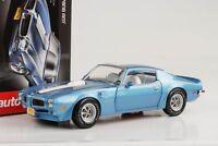 1972 Pontiac Firebird Trans Am 455 HO blau metallic 1:18 Auto world NEU