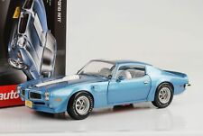 1972 Pontiac Firebird Trans Am 455 HO bleu métallique 1:18 Auto World NEUF