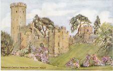 Artist Drawn, The Castle From Straight Walk, WARWICK, Warwickshire - J. Salmon