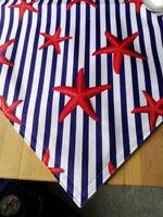 Maritim 45 x150 cm Läufer Rot Weiß Blau Tischläufer Baumwolle Seesterne Streifen