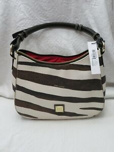 NWT Dooney Bourke Kiley Hobo purse in Brown/White Zebra print