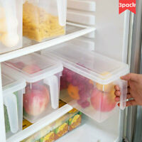 3Pcs Freezer Storage Collecting Box Basket Kitchen Refrigerator Fruit Organizer