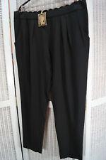 """LOVE LABEL Trousers XXL UK18 New Black Dress Pants 41""""W Scalloped Waistband"""