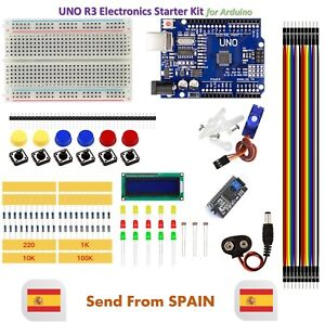 Basic Starter Kit UNO R3 Breadboard LED Jumper Wire SG90 LCD Button for Arduino