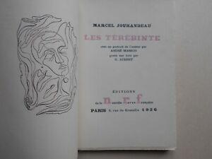 [Edition originale - A. Masson] Marcel Jouhandeau - Les Térébinte. NRF, 1926.