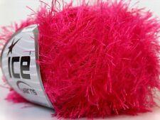 Gipsy Pink Eyelash Yarn Ice Barbie Luvs Bright Pink Fun Fur 22769 50gram