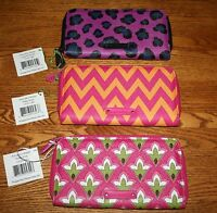 Vera Bradley ACCORDION WALLET PVC zip around clutch organizer  iPhone 8 or X