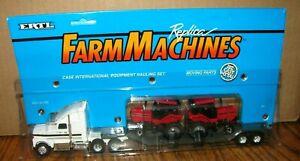 Case IH 5130 Tractors International Equipment Hauling Semi Truck Set 1:64 Ertl