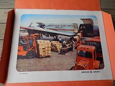 rare 1953 AMERICAN AIRLINES Travel Poster PORTFOLIO of 9 POSTERS by Ivan Dmitri