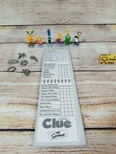 The Simpsons Clue Game Replacement Pieces Tokens, Weapons, Cards, Dice, Pad