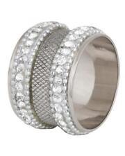 Set x 4 nickel pailleté ROND DE SERVIETTE AVEC diamante bord qualité maison