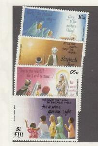 FIJI (SP36,37) # 410j,411Bj,414j,416j ,633-636 MNH 1990 CHRISTMAS /1991 LANDMARK