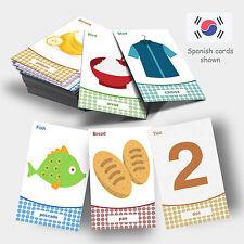 Learn Korean Flashcards Set - Study Cards - Learn Vocabulary / Words - Korea