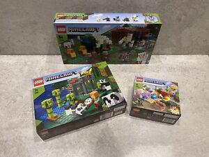 Lego Minecraft 21158 Panda 21159 Pillager & 21164 Coral Bundle BRAND NEW