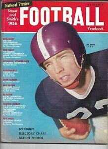 1956 Street & Smith's Football Yearbook Magazine---Jim Swank  VG
