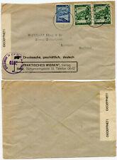 AUSTRIA 1946 CENSORED in BRITISH ZONE to SUFFOLK GB