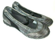 Skechers Pewter Black Plaid Newbie Leather Flats Shoes Womens Size 9 SN 46353