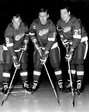 Gordie Howe Alex Delvecchio Frank Mahovlich Detroit 8x10 Photo