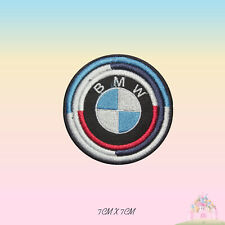 BMW Brand Logo Motor Sport Racing Sponsor Embroidered Iron On Patch Sew On Badge