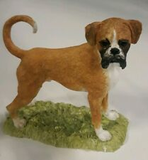 """Border Fine Arts - Boxer - Tan & White - 5"""" Tall - Dog Ornament - A25678"""