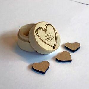 Personalised Wedding Ring Box, Cute, Ring Bearer Box, Wood Engagement Proposal