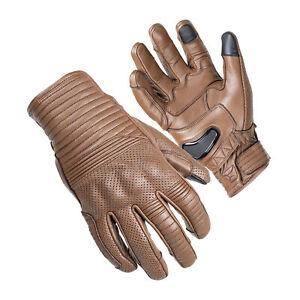 Cortech Bully Short Cuff Leather Gloves Brown LRG