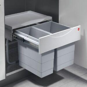 Double-bin waste sorter - Hailo Tandem S - space saving waste bins