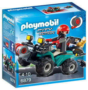 PLAYMOBIL City Action Robber's Quad with Loot with Pullback Motor 6879 PLAYMOBIL