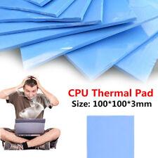 100 Pz CPU Thermal Pad Silicone Dissipatore Cooler 100x100x1mm GPU Conductive Pad
