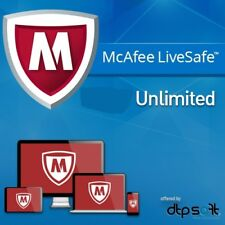 Mcafee LIVESAFE 2019 dispositivi illimitati 1 anno 2018 PC Key Live Safe IT EU