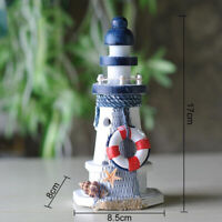 Wooden Lighthouse 6.7'' High Nautical Sea Theme Home Bedroom Decor Crafts
