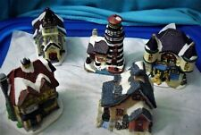 Lot of 5 Light Houses Set Miniature Collectibles