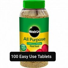 100 x Fast Growing Miracle Gro All Purpose Slow Release Plant Food Tablets. AAA*