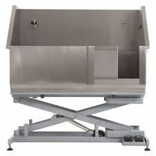 Stainless Steel Bathing Bath Tub with Electric Lifting Dog Grooming (slide door)