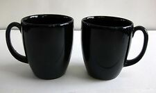 PRE-OWNED PAIR OF BLACK CORELLE STONEWARE MUGS
