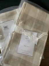 """Set Of 2 Pottery Barn Rhett Check Sham Neutral 36x20"""" King New In Packaging"""