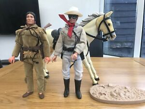 Vintage 1970's Lone Ranger, Silver& Tonto Action Figures
