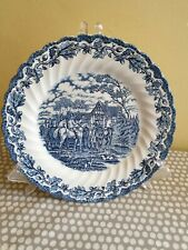 More details for myott's country life staffordshire ware dinner plate blue. 25.2cm diameter