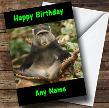 Funny Monkey With Legs Open Personalised Birthday Greetings Card