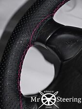 FOR MORRIS OXFORD MO PERFORATED LEATHER STEERING WHEEL COVER HOT PINK DOUBLE STT