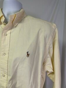 Polo Ralph Lauren Striped Yarmouth Button Down Dress Shirt 15.5x35 Large