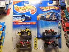 Hot Wheels Lot 4 ATV Sand Stinger Quad Racer All Terrain Vehicle SUZUKI QUADRACE