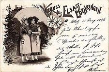 CPA  Gruss aus Elsass-Lothringen - Litho - Folklore - Types  (481541)