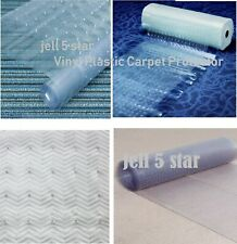 CLEAR CARPET PROTECTOR GUARD RUNNER PLASTIC VINYL ANTI NON SLIP MAT HALLWAY ROLL