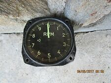 Vintage Aircraft Aviation U.S. Navy RPM Indicator Gauge Gage